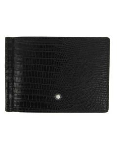 This Montblanc Meisterstück wallet comes with a lizard print on the front.