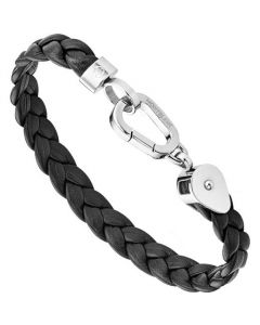 This is the Montblanc Black Braided Leather Wrap Me Bracelet.