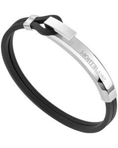 This is the Montblanc Black Rubber Wrap Me Bracelet.