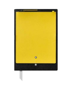 This is the Montblanc Black Fine Stationery #146 Notebook with Yellow Pocket.