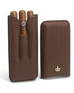 This is the Montecristo 3 Linear 1935 Cigars & Fleur de Lis Leather 3 Cigar Pouch.