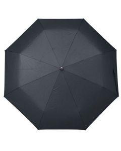 Full front view of the Hugo Boss pocket dark blue Loop umbrella open.