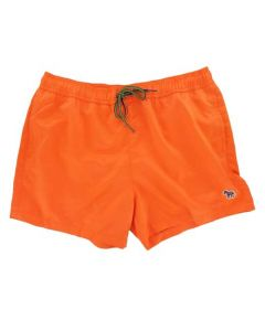 This pair of Paul Smith swim shorts comes in a bright orange colour.