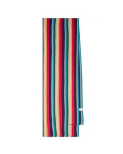 This is the Paul Smith Men's Wool Multi-Coloured Artist Stripe Scarf.
