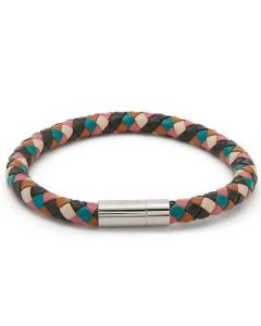 This is the Paul Smith Men's Woven Multicoloured Leather Bracelet.