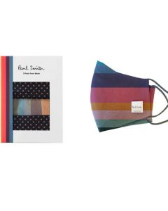 These Paul Smith Artist Stripe & Pink Spot Pack of 3 Face Masks will be presented inside a white gift box.