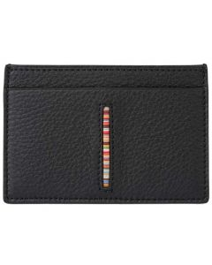 This is the Paul Smith Black Signature Stripe 3CC Card Holder.