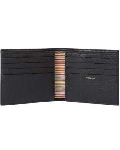This is the Paul Smith Soft Grain Black 8CC Signature Stripe Interior Wallet.