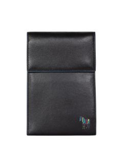 This is the Paul Smith Black Zebra Logo Neck Pouch.