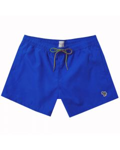 The Paul Smith blue polyester swim shorts in the Zebra collection.