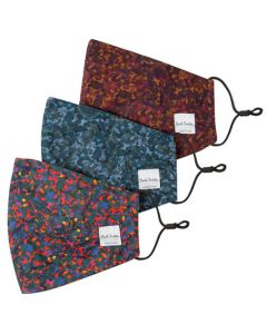 These are the Paul Smith Camo Print Pack of 3 Face Masks.