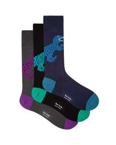 These are the Paul Smith 3-Pack of Dino Pattern Socks.