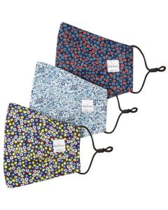 These are the Paul Smith Liberty Floral & Contour Floral Pack of 3 Face Masks.