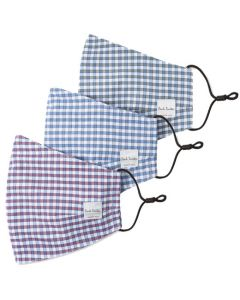 These are the Paul Smith Gingham Print Pack of 3 Face Masks.