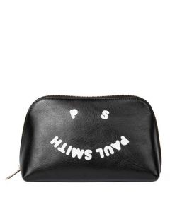 This is the Paul Smith Women's 'PS Happy' Black Make-Up Bag.