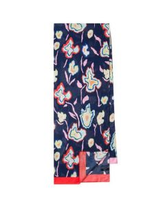 This is the Paul Smith Women's Heat Map Floral Print Navy Scarf.