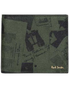 This is the Paul Smith Khaki Show Collage 8CC Wallet.