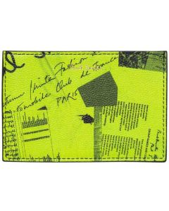 This is the Paul Smith Lime Green Show Collage 2CC Card Holder.