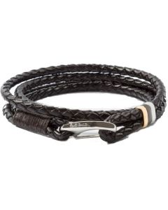 This is the Paul Smith Men's Leather Double Wrap Bracelet.