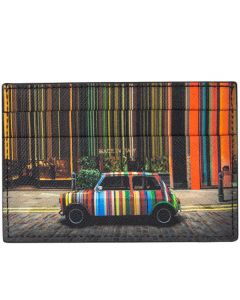 This is the Covent Garden Mini Print 3CC Card Holder designed by Paul Smith.