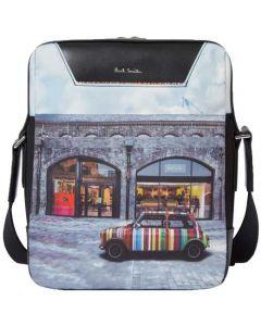 This is the Paul Smith Kings Cross Mini Print Flight Bag.