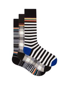These are the Paul Smith 3-Pack of Men's Mixed Pattern Socks.