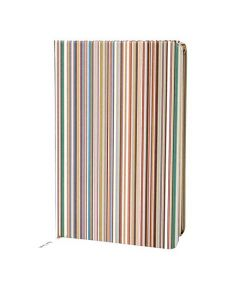 This Paul Smith striped notebook is made from a card on the front.