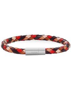 This is the Paul Smith Men's Woven Orange Bracelet.