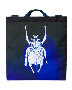 This is the Paul Smith Photographic Beetle Print Navy Recycled Polyester Tote Bag.