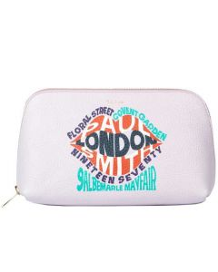 This is the Paul Smith London Print Pink Leather Make-Up Pouch.