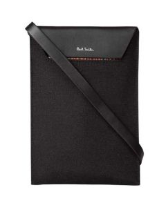 This Paul Smith neck pouch is made from a leather and polyester mix.
