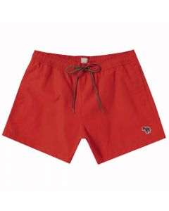 The Paul Smith red polyester swim shorts in the Zebra collection.