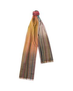 The Paul Smith silk and wool blend multi stripe scarf.