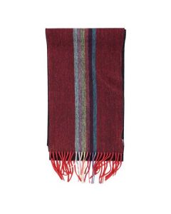 This Paul Smith men's scarf is made from 100% cashmere is comes with a striped design.