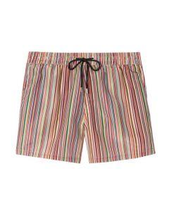 The Paul Smith signature stripe swim shorts.
