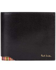 This is the Paul Smith Signature Stripe Corner Black 8CC Billfold Wallet.