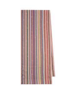 This is the Paul Smith Men's 'Music Note' Signature Stripe Scarf.