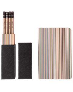 Signature Stripe 12 Pencils with Signature Stripe Pocket Notebook