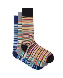 Signature striped multi-coloured men's socks by Paul Smith.