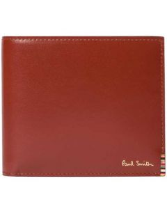 This is the Paul Smith Tan Signature Stripe Tab 8CC Wallet.