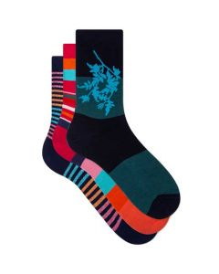 These are the Paul Smith 3-Pack of Women's Stripe & Floral Socks.