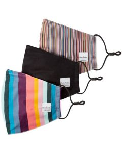 These are the Paul Smith Signature Stripe & Artist Stripe Pack of 3 Face Masks.