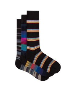 This pack of striped Paul Smith socks come with 3 pairs.