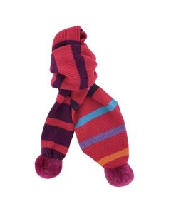This Paul Smith ladies scarf is made from a pink lambswool material.