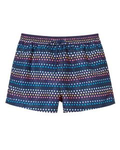 This Paul Smith pair of swimming trunks come in navy colour with dots on them.