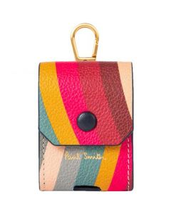 This is the Paul Smith Leather 'Swirl' Earphone Case.