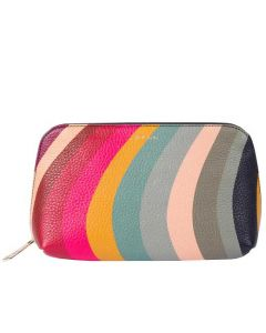 This textured leather makeup bag has been designed by Paul Smith.
