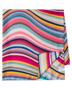 Pau; Smith Women's 'Swirl' Silk Multicoloured Square Scarf.