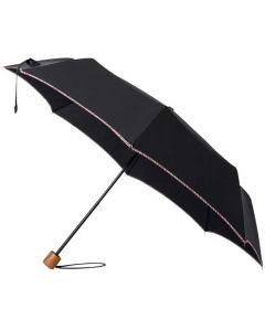 This is the Paul Smith Telescopic Umbrella in Black with 'Signature Stripe' Trim.