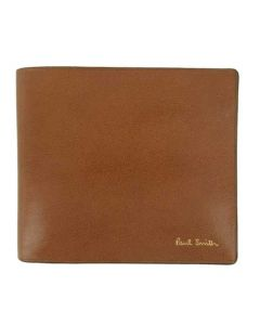 This Paul Smith mens wallet is made from a brown leather material.